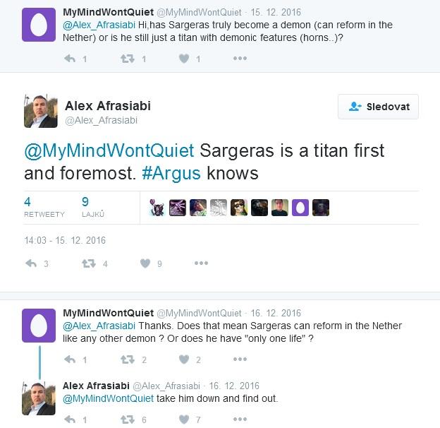 Sargeras tweet