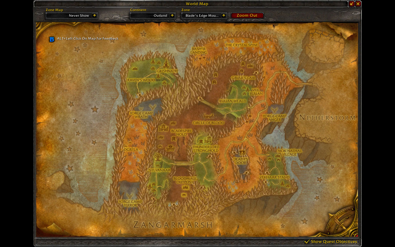how to get to terokkar forest from stormwind